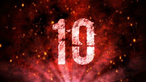 Red Grunge Countdown