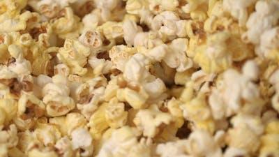 Fresh Hot Popcorn Mixing Popcorn Machine. Popcorn Background