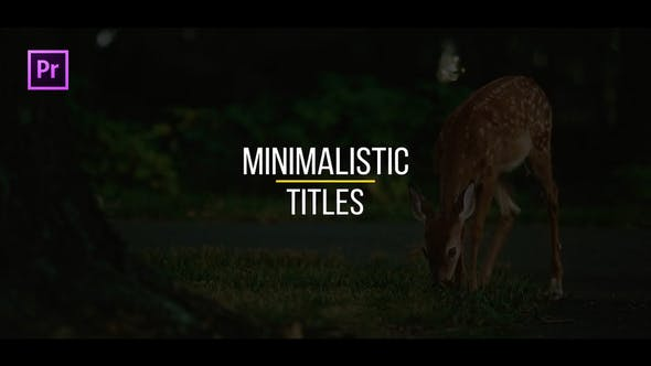 Thumbnail for Minimalistic Titles for Premiere Pro | Essential Graphics