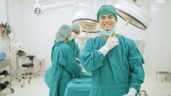 Thumbnail for Portrait of Male Surgeon in Operating Theater