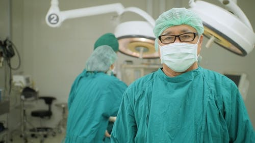 Portrait of Senior Male Surgeon in Operating Theater
