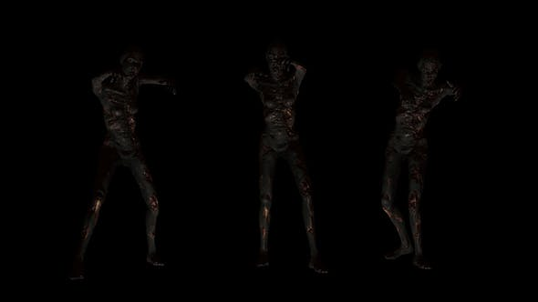 Thumbnail for Burned Female Zombie