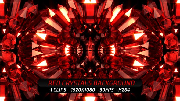 Thumbnail for Red Crystals Background