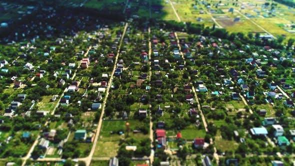 Thumbnail for Village Fly Over Aerial Survey Tilt Shift