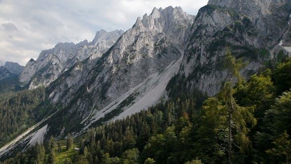 Aerial of Gosaukammand Dachstein, Austria