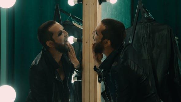 Thumbnail for Rock Singer Taking Drugs in Dressing Room
