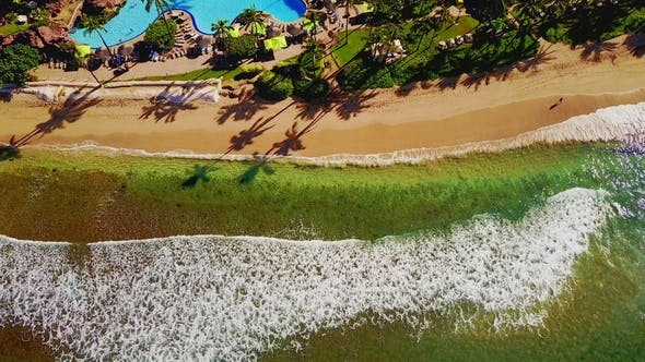Thumbnail for Top View of the Giant Waves, Foaming and Splashing in the Ocean Sunny Day Indonesia Bali