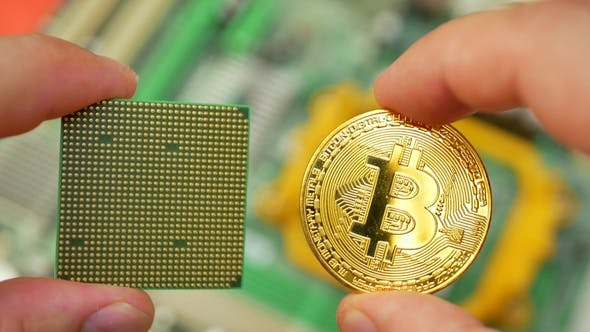 Thumbnail for Gold Bitcoin BTC with PC Processor