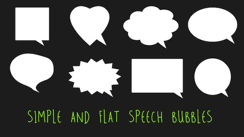Simple and Flat Speech Bubbles