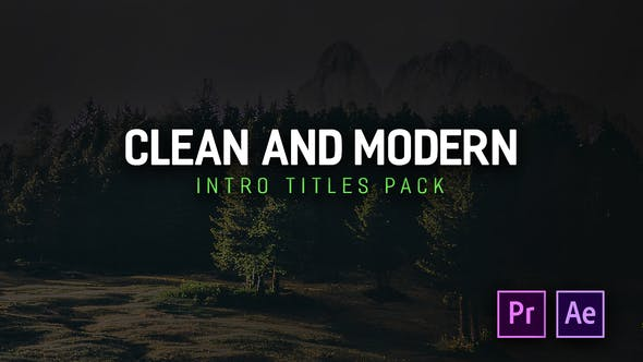 Thumbnail for Modern Intro Titles Pack for Premiere Pro