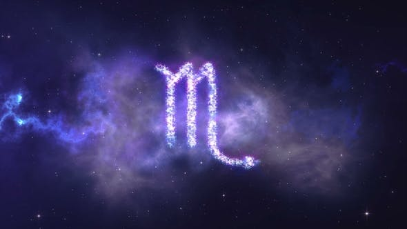 Thumbnail for Zodiac Sign Scorpion Forming From the Stars with Space Background