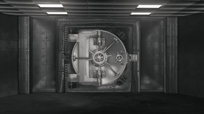 Bank Vault And Opening Safe