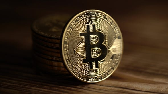 Thumbnail for Material Symbol of Virtual Digital Currency Silver Coin Bitcoin.