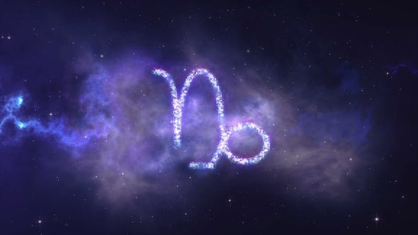 Thumbnail for Zodiac Sign Capricorn Forming From the Stars with Space Background