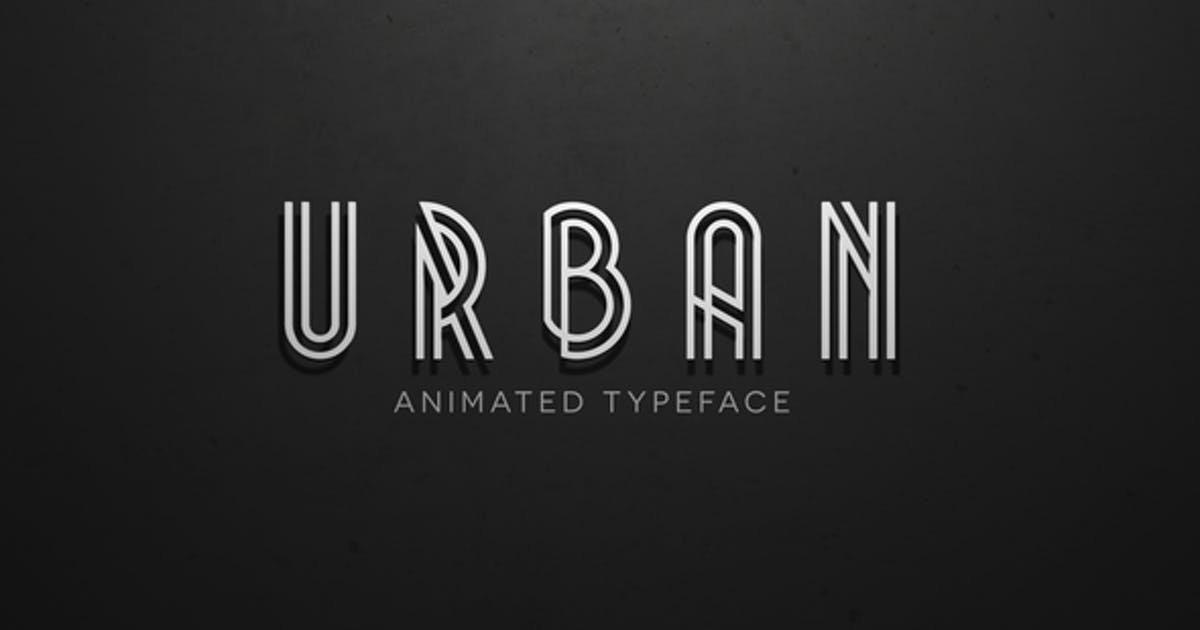 Download Urban - Animated Typeface by Creattive