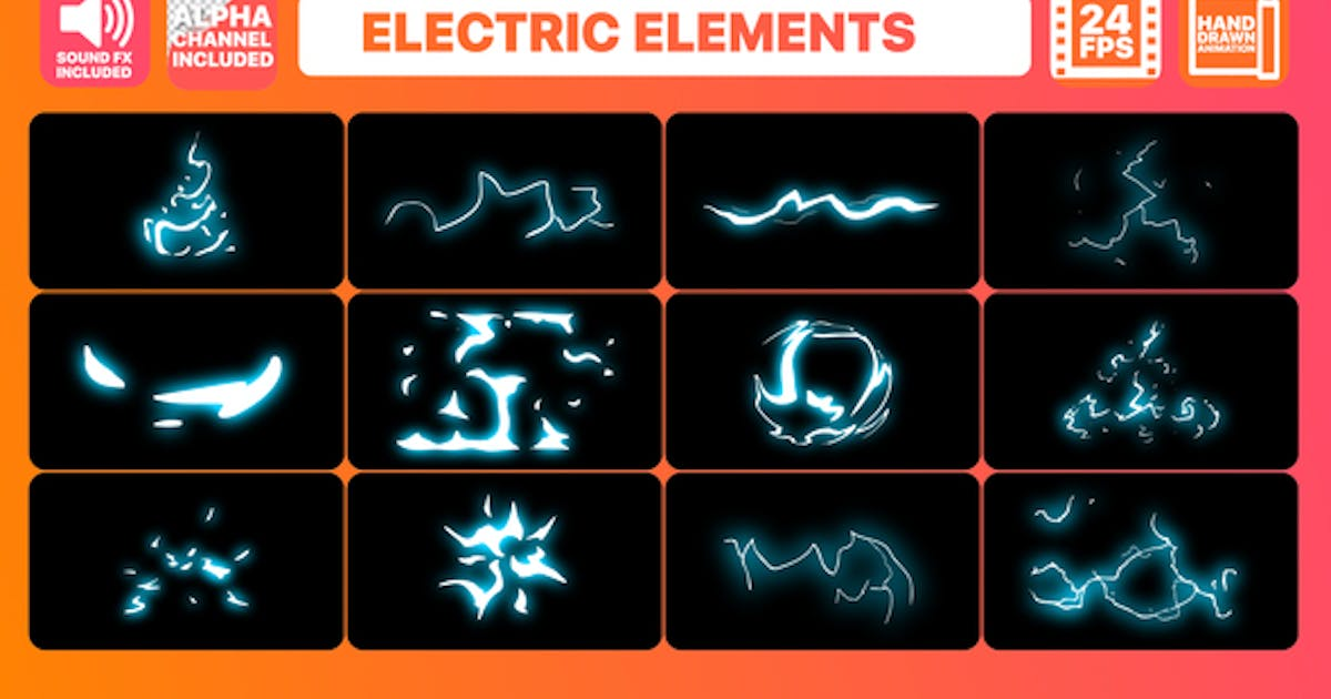 Download Cartoon Electric Elements and Titles | Premiere Pro MOGRT by 2DFXAnimation