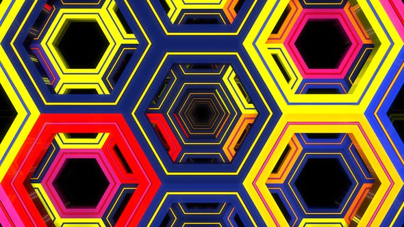 Cover Image for Colorful Hexagons Loop