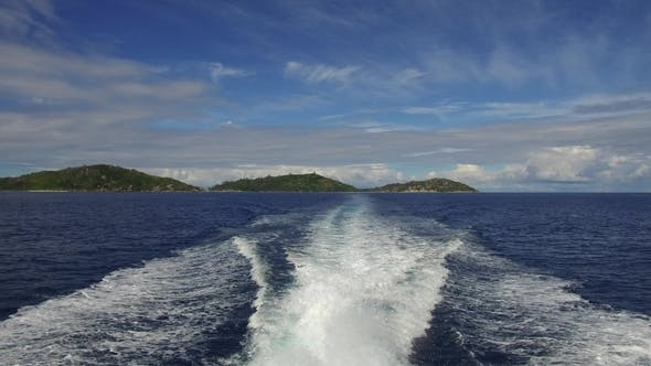 Thumbnail for Indian Ocean and Boat Trace on Water