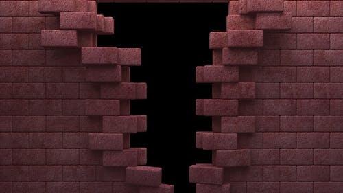 Red Bricks Wall Reveal