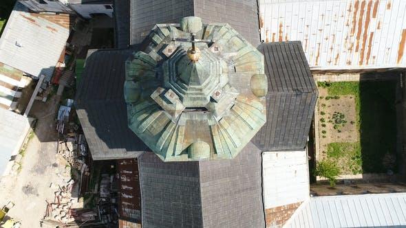 Thumbnail for Aerial View of Monastery of the Bare Carmelites in Berdichev, Ukraine.