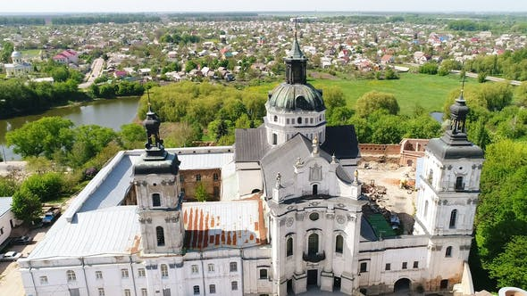 Thumbnail for Aerial View of Monastery of the Bare Carmelites in Berdichev, Ukraine.