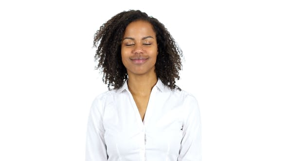 Thumbnail for Yes, African Woman Shaking Head To Agree, White Background