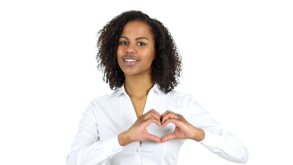 Thumbnail for African Woman Handmade Heart White Background