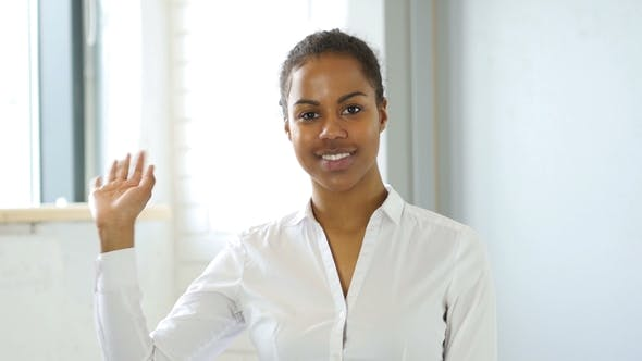 Thumbnail for African Woman Waving Hand
