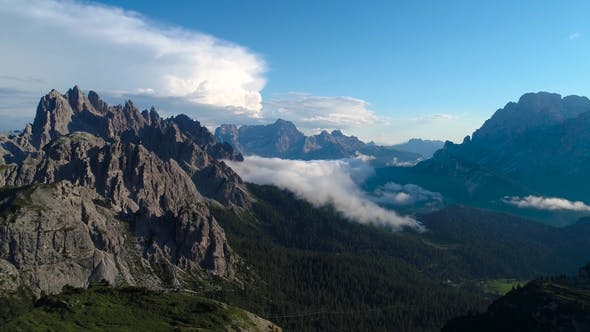 Thumbnail for National Nature Park Tre Cime In the Dolomites Alps. Beautiful Nature of Italy.