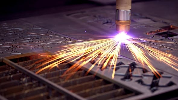 Thumbnail for CNC Laser Plasma Cutting of Metal, Modern Industrial Technology.
