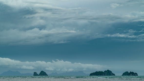 Cover Image for Storm Clouds Over Tropical Islands at Angthong National Marine Park in Thailand