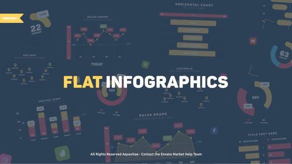 Thumbnail for Flat Design Infographics