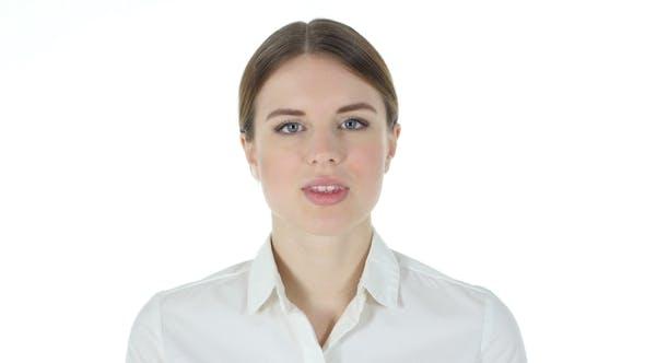 Thumbnail for Finger on Lips of Businesswoman