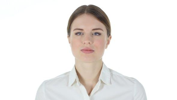Thumbnail for Thinking Businesswoman White Background