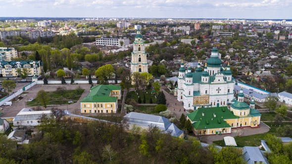 Thumbnail for The Cityscape From a Bird's Eye View of the City of Chernigov.