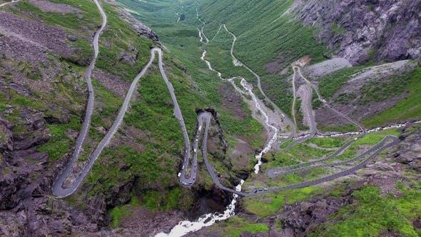 Thumbnail for Troll's Path Trollstigen or Trollstigveien Winding Mountain Road