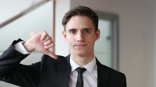 Cover Image for Okay, Ok Sign By Young Businessman in Office