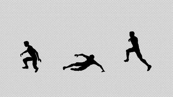 Soccer Tackle Silhouette