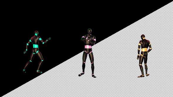Colorful Humanoid Dancer