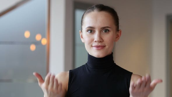 Thumbnail for Inviting Gesture By Woman in Office