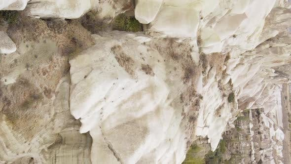 Vertical Video Cappadocia Landscape Aerial View