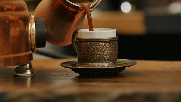 Thumbnail for Coffee Poured in a Cup From the Turks