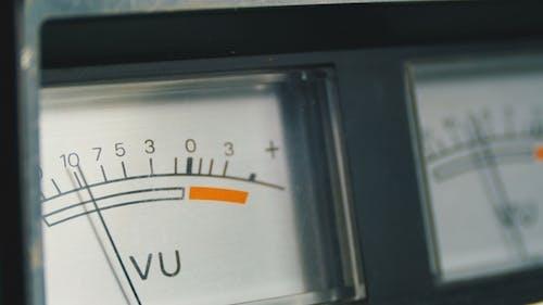 Two Dial Indicators Gauge Signal Level Meter