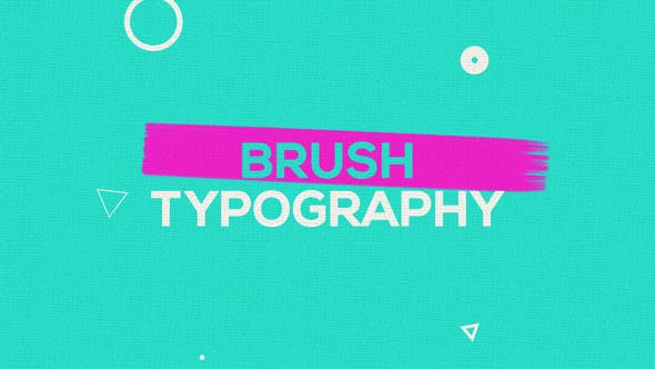 Pinsel Typografie Promo