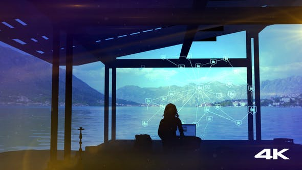 Thumbnail for The Blogger Gets A Lot Of Likes, Infographics And A Beautiful View Of The Lake