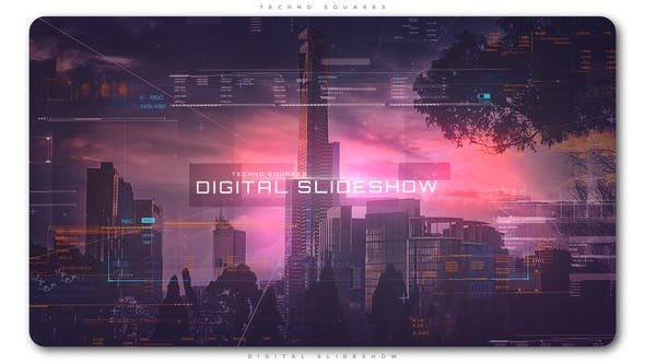 Cover Image for Techno Squares Digital Slideshow