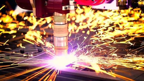 Thumbnail for CNC Laser Plasma Cutting of Metal, Modern Industrial Technology.