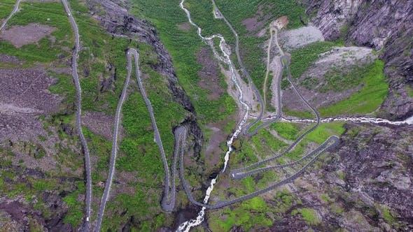 Thumbnail for Troll's Path Trollstigen or Trollstigveien Winding Mountain Road.