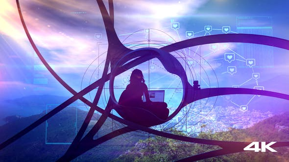 Thumbnail for Sci-fi Blogger Surrounded By Nature, Social Infographics