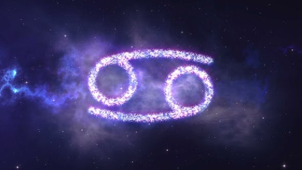 Thumbnail for Zodiac Sign Cancer Forming From the Stars with Space Background